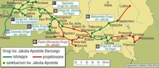 Drogi św.Jakuba w Polsce południowej